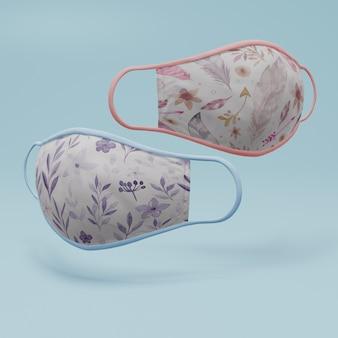 Handgemaakt gezichtsmasker met mock-up