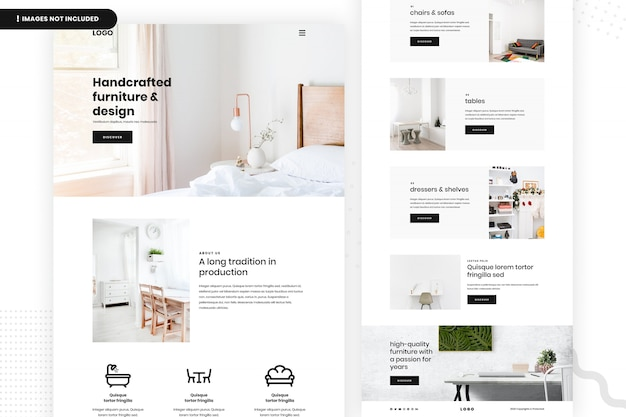 Handgemaakt meubilair website pagina