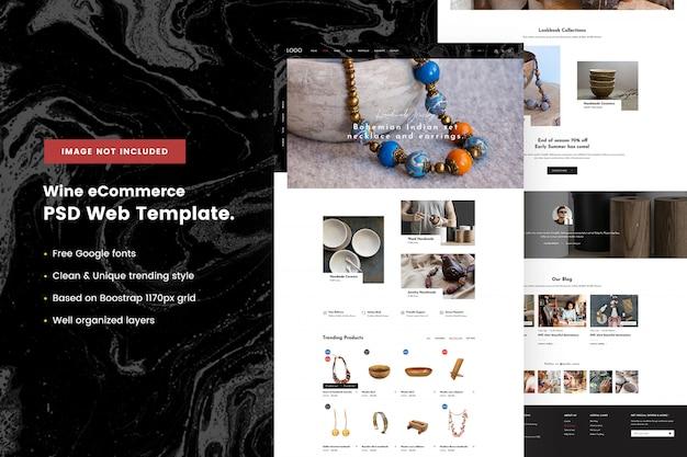 Handgemaakte winkel websjabloon