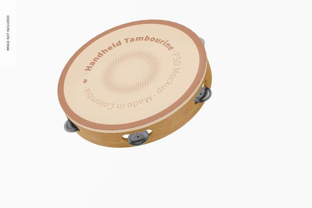 Handheld tamboerijn mockup, vallen