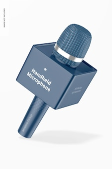 Handmicrofoon met kubusmodel, vallend