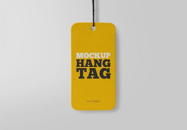 Hang tag mockup