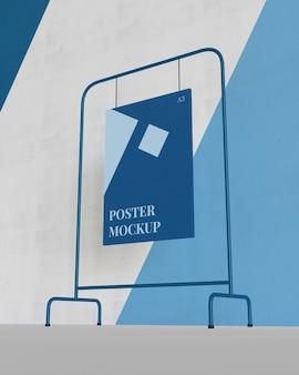 Hangend affichemodel met een lagere kijkhoek