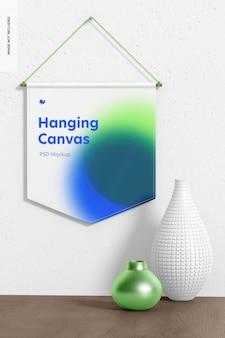 Hangende canvas wimpelmodel, vooraanzicht