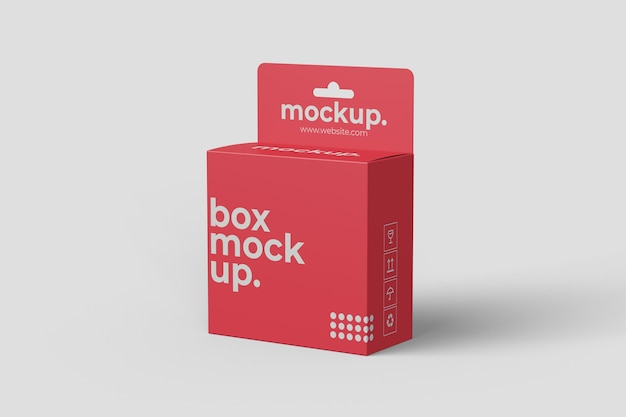Hangende doos mockup met rechte hoek