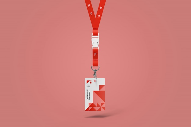 Hangende id-kaart mockup