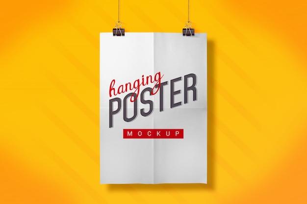 Hangende poster mock up