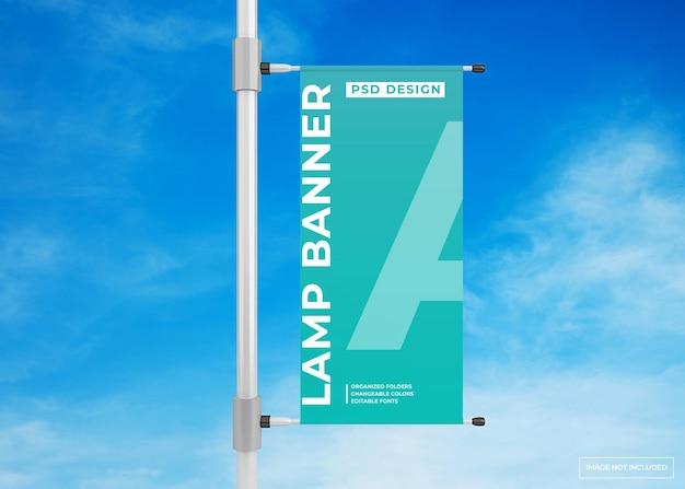 Hanglamp banner reclame poster mockup
