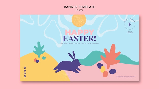 Happy easter day banner