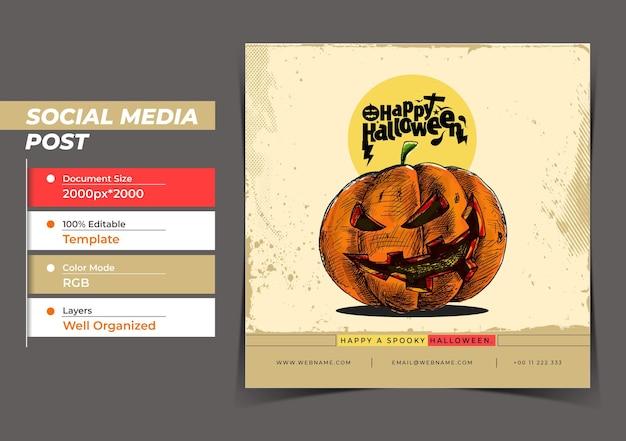 Happy halloween festival digital concept instagram en social me