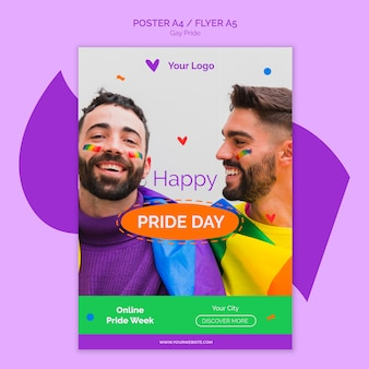 Happy pride day poster sjabloon