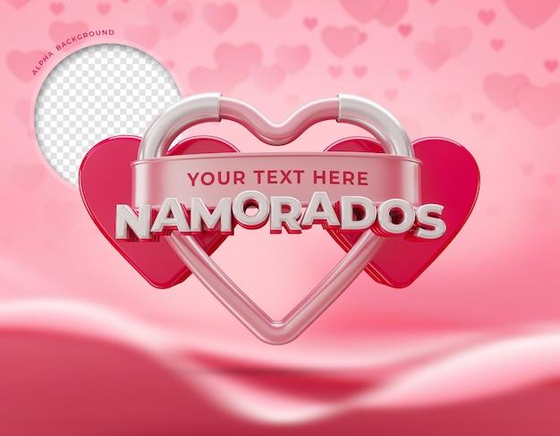 Happy valentijnsdag 3d in brazilië
