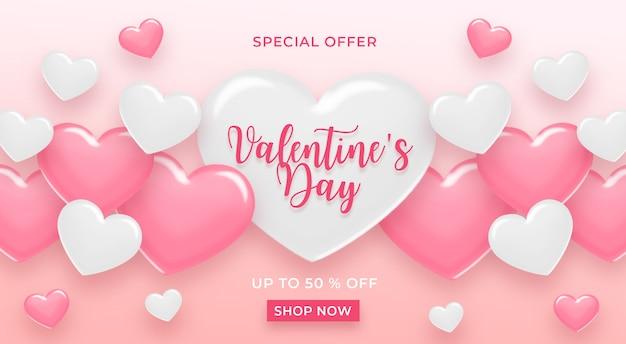 Happy valentijnsdag verkoop banner