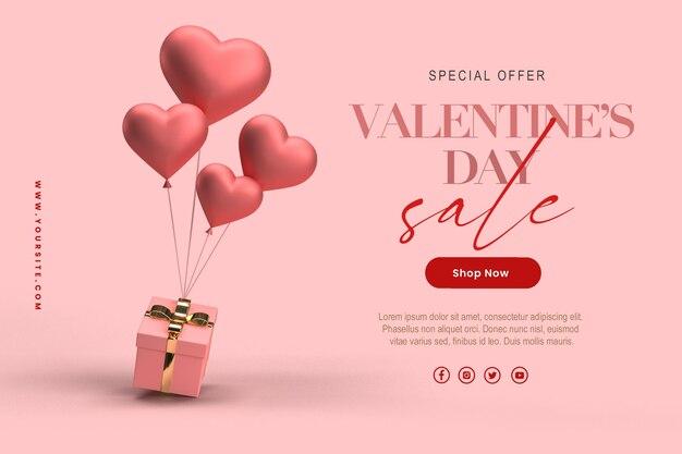 Happy valentijnsdag verkoopsjabloon
