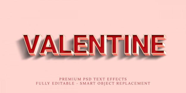 Happy valentine efecto de estilo de texto