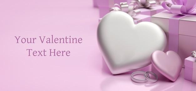 Happy valentine's day groet sjabloon kaart met harten