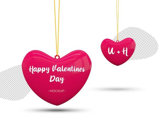 Happy valentine's day harten mockup