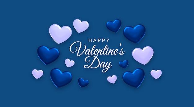Happy valentine's day klassieke blauwe kleur van het jaar 2020