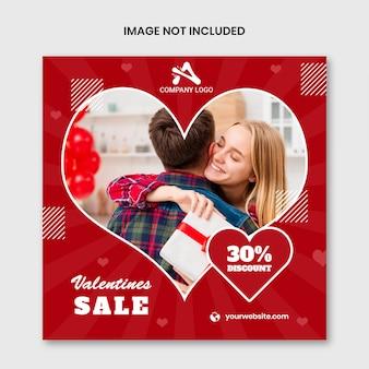 Happy valentine's day sociale media sjabloon