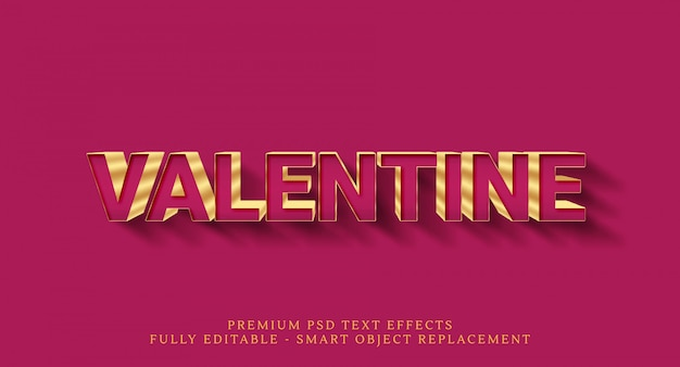 Happy valentine tekst stijl effect