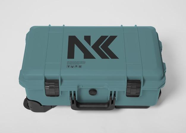Hardcase rollen voor camera mockup-ontwerp