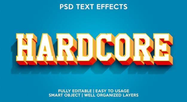 Hardcore teksteffect