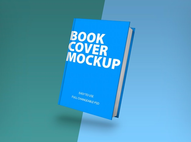 Hardcover boekmodel in 3d-rendering