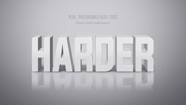 Harder 3d-tekststijleffect