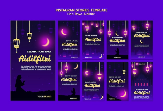 Hari raya aidilfitri instagram verhalen sjabloon