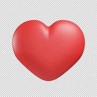 Hart liefde pictogram 3d illustratie