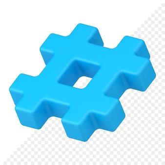 Hashtag 3d-pictogram