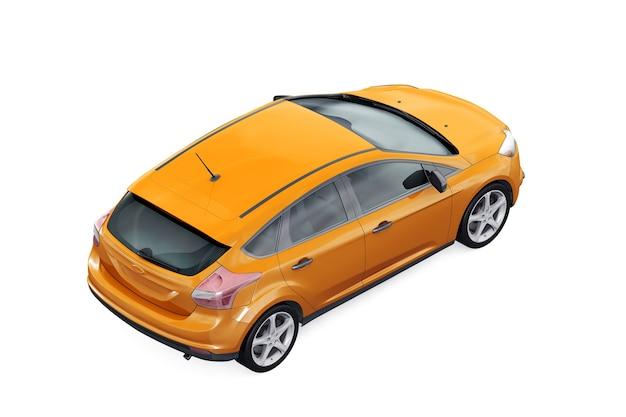 Hatchback auto 2012 mockup