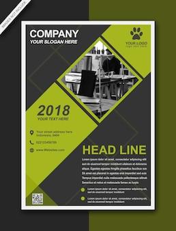 Headline flyer lemon moderne zakelijke brochure - a3-formaat