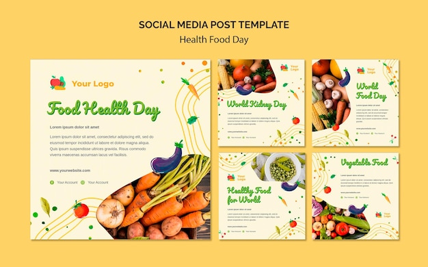 Health food day social media post