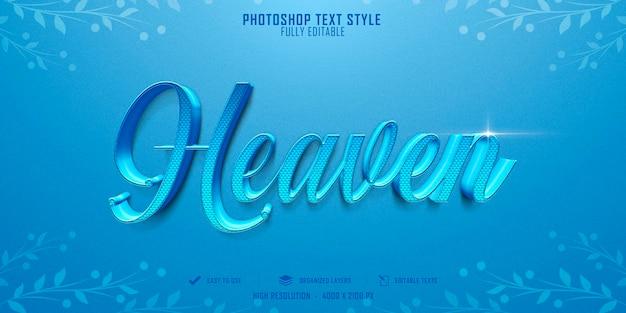 Heaven 3d-tekststijleffect sjabloonontwerp
