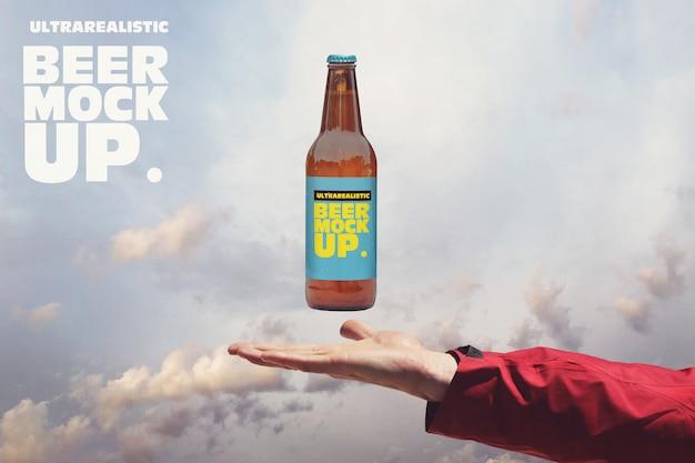 Heavenly 50cl beer mockup