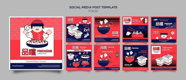 Heerlijk chinees eten op sociale media plaatsen