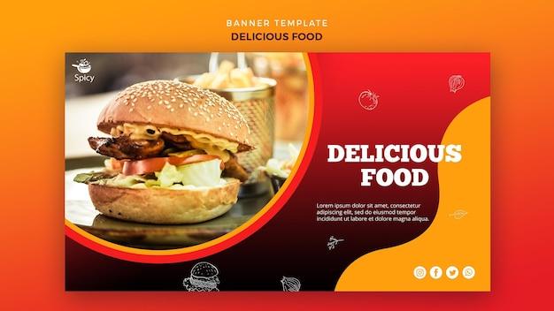 Heerlijk eten banner concept