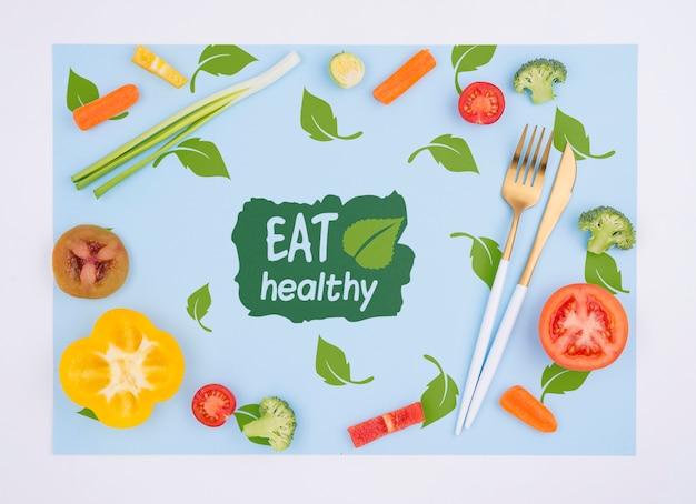 Heerlijk eten concept mock-up