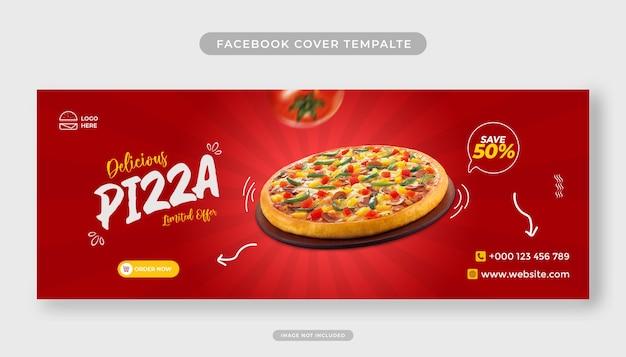 Heerlijk eten menu promotie facebook voorbladsjabloon