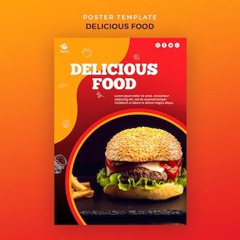 Heerlijk eten poster sjabloon
