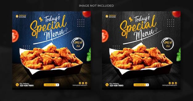 Heerlijk eten social media banner postsjabloon