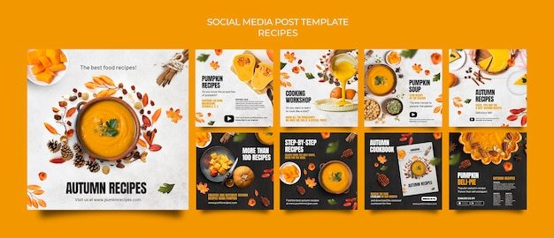 Heerlijk herfst eten social media post