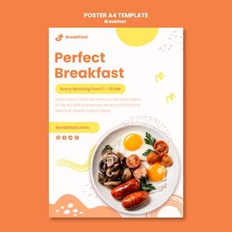 Heerlijk ontbijt poster sjabloon