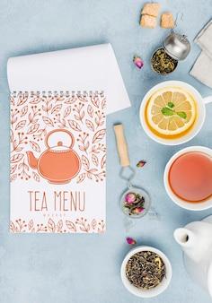 Heerlijke aromatische thee concept mock-up