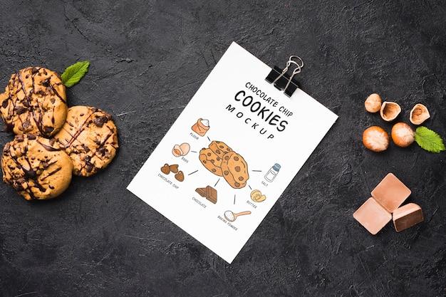 Heerlijke chocoladekoekjes mock-up