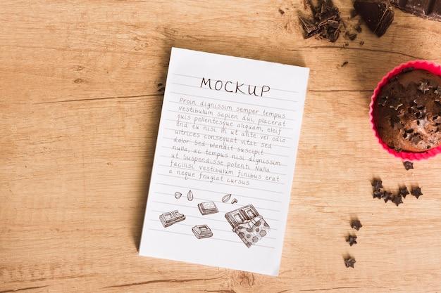 Heerlijke chocolademuffins mock-up