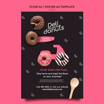 Heerlijke donuts afdruksjabloon