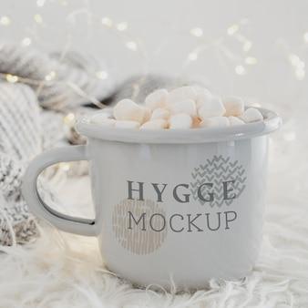 Heerlijke drank met marshmallows