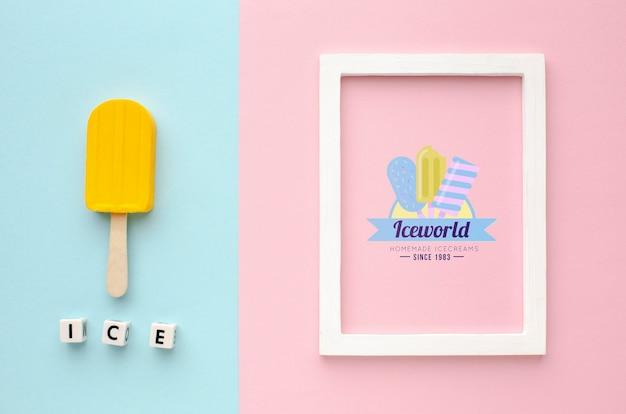 Heerlijke ijs concept mock-up